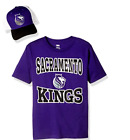 NBA Sacramento Kings Youth T Shirt and Hat Combo-Size M or XL (Y2)