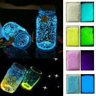 4x Glow Sand In The Dark Fluorescent Particle Luminous Sand Stone Party Decor Uk