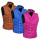 Men's Steampunk Double-breasted Waistcoat Vest Gothic/Western-Reenactment/USA