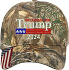 Oklahoma for Trump US Flag 2020 Gift One Size Fits All Embroidered Hat