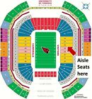 ARIZONA CARDINALS VS SEATTLE SEAHAWKS LL SEC 128 AISLE SEATS 40 YD LN