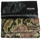 """Kenneth Cole Reaction Trifold Clutch Snake Imprinting """"Tri-Ed & True"""" image"""