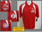 NEW Sz XL Red/White Reebok Play-Dry MLB MENS db Polyester #07N Golf Polo Shirt on Ebay