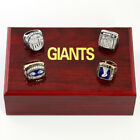 Copper High Quality1986 1990 2007 2011 Giants Championship Ring Gift+Wooden Box