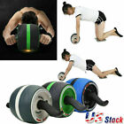 Abdominal Roller Wheel Workout Gym Exerciser Muscle Fitness Machine Exercise image