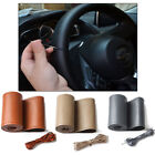 DIY Anti-slip Leather Steering Wheel Cover for Car Truck With Needles and Thread $4.99 USD on eBay
