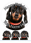 Cake Topper Birthday Dachshund Dog personal Rice paper,Icing fondant Sheets 1064