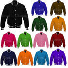 New Varsity Letterman Vintage baseball All Wool Bomber style Jacket Sizes XS~7XL