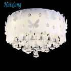 Crystal Butterfly LED Lighting Fixture Shade Chandelier Crystal Ceiling Lamp