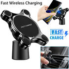 Qi Wireless Car Charger Magnetic Mount Holder For Samsung S9 Note 9 iPhone X 8
