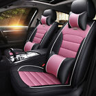 Luxury Leather Seat Cover Car Accessories Cushion Front Rear Protector Full Set