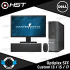 Fast Gaming Dell Bundle Tower Pc Full Set Computer System Intel I7 8gb 1tb Gt710