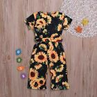 US Toddler Kids Baby Girl Floral Romper Bodysuit Jumpsuit Pants Outfits Clothes