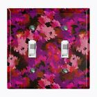 Metal Light Switch Cover Wall Plate Home Decor ARTISTIC CAMO PINK