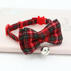 Pet Collars Dog Cotton Plaid Check Bow Tie Collar for Small Dogs Cat with Bell