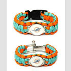 Miami Dolphins Paracord Survival Unisex Team Bracelet Football Fans Gift Bangle on eBay