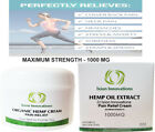 Hemp Pain Relief Cream - Salve - Rub - Ointment - Joint - Muscle - Pain - 1000mg