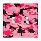 Metal Light Switch Cover Wall Plate Home Decor PINK BLACK CAMO