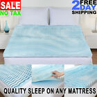 Cooling Gel Memory Foam Pillow Top Mattress Pad Cover Topper Queen King Full Twi image