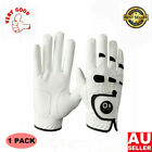 Men's All Weather Golf Gloves Left Right Hand 1 Pack Leather With Ball Marker AU