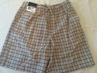 Basic Editions, Men's Pull on Shorts, Plaid Variety