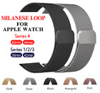 Apple Watch Milanese Magnetic Stainless Steel Strap iWatch Wristwatch Bands image
