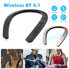 Portable Wireless Stereo Wearable Neck BT 4.1 Speaker Sports Music Player
