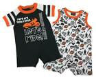 Harley-Davidson Baby Boys' 2-Pack Biker Newborn Romper Set, Black/White 3052901 $28.95 USD on eBay