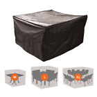 Garden Furniture Protective Cover Square Patio Set Table Chair Weatherproof