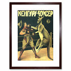 Advert 1933 Boxing Russian Kangaroo Picture Framed Wall Art Print