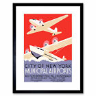 Vintage Advert Travel Transport New York City Wpa Ca Framed Wall Art Print