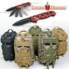 Tactical Backpack DayPack 30L MOLLE Hiking Camping (with Free Gift)