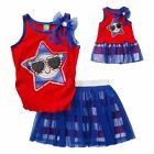 Girl 5-14 and Doll Matching Patriotic 4th Top Skort Skirt Outfit American Girl