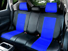 Leather Like Rear Split Zip Type Car Seats Covers for Dodge Black/Blue #255 $45.0 USD on eBay