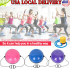 "24.4"" Balance Training Half Ball for Gym Exercise Yoga Fitness Workout with Pump image"