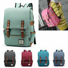 Kyпить Women Men Canvas Leather Travel Sports Backpack Satchel Rucksack Laptop Bag на еВаy.соm