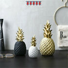 Pineapple Diamante Detail Black Silver Ceramic Ornament Home Decor
