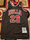 Michael Jordan #23 Chicago Bulls Black Pinstripe Mens Throwback Jersey on eBay