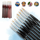 9Pcs Art Detail Paint Brush Oil Artist Fine Watercolor Painting Brushes Supplies