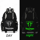 "TRIUMPH MOTORCYCLE Logo Backpack Men Boys Travel Rucksack School Bags 18"" $28.83 USD on eBay"