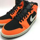 Nike Air Jordan 1 MID Men's Basketball Shoes Black/Cone-Light Bone 554724-062