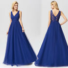 Ever-Pretty US Sleeveless Evening Gowns A-Line Lace V-Neck Wedding Dress 07645