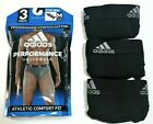 Men adidas Climalite Athletic Stretch Cotton 3-Pack Black Sport Brief Underwear