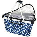 Sachi Collapsible/Foldable Insulated Picnic Shopping Carry Basket/Bag w/ Lid