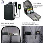 Business Mens Usb Charing 15.6 Inch Laptop Backpacks Waterproof Anti-theft Male