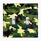 Metal Light Switch Cover Wall Plate Home Decor GREEN CAMO