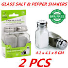 Glass Salt And Pepper Shakers With Stainless Steel Lid Top Spices Seasoning Pack