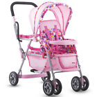 Toy Doll Caboose Tandem Stroller - Pink Dot For Reborn silicone doll by Joovy