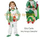 NWT Eric Carle Very Hungry Caterpillar Footed Fleece Pajamas 4T 5T Zip Up Kids