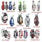 10.5 Inch 5-way Different Embroidery Pattern Golf Cart Bag Waterproof Golf Bag
